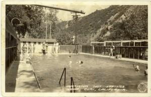 Matilija Hot Springs swimming pool in the 1950s.