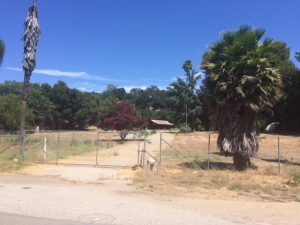 """This piece of property was where """"Perl's Nursery"""", then """"Clapp's Nursery"""" used to be located many years ago. The property is located on the east side of Highway 33 in the commercial area of Mira Monte."""