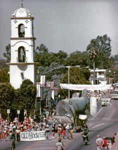 The first Old Hoover float in Ojai's 1984 Independence Day Parade.