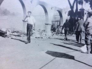 Looking towards the November 28, 1917 Arcade fire from Ojai Avenue.